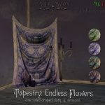 paper moon - Tapestry Endless Flowers